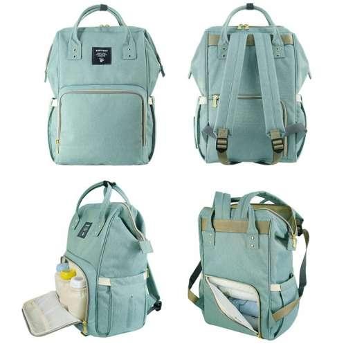 Сумка-рюкзак для мамы бирюзовый