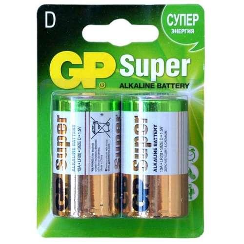 Батарейка GP Super Alkaline LR20 1.5V