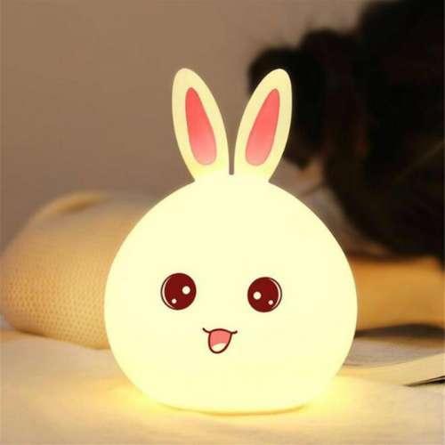 Светильник кролик силиконовый 12*10.8*16.3 см