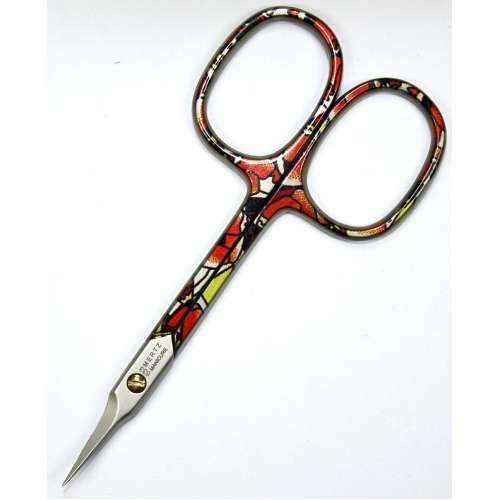 Ножницы маникюрные для кожи Mertz 633-C загнутые цветные