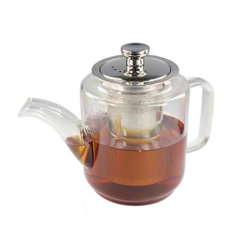 Чайник заварочный стеклянный термостойкий Люкс 650 мл
