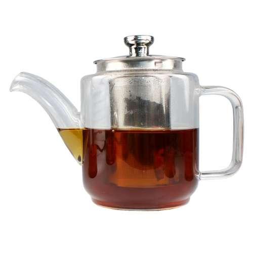 Чайник заварочный стеклянный термостойкий Люкс 1200 мл