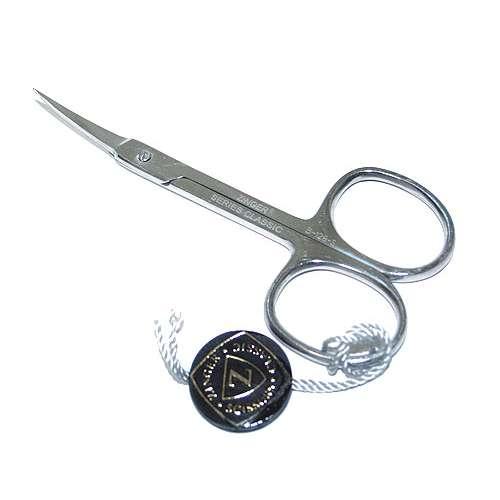 Ножницы маникюрные для кутикулы Zinger B-128-S (загнутые, качество Sdandart) РУЧНАЯ ЗАТОЧКА