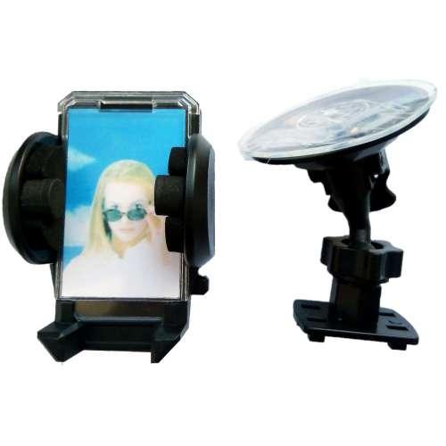 Держатель автомобильный для телефона на присоске с шарнирным регулятором и фото рамкой