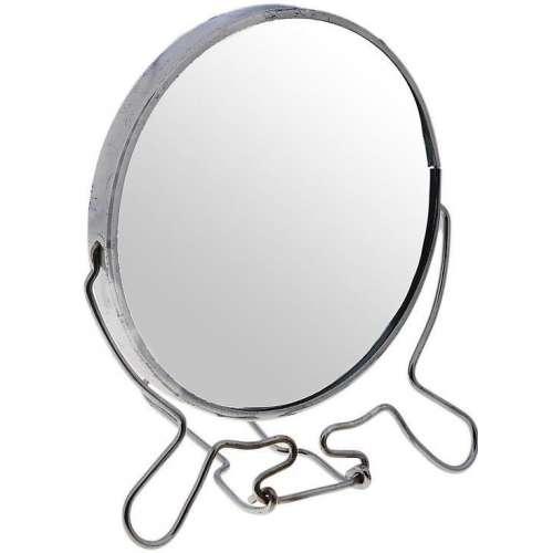Зеркало настольное металлическое увеличительное двухстороннее круглое №8 (диаметр 19,4 см)