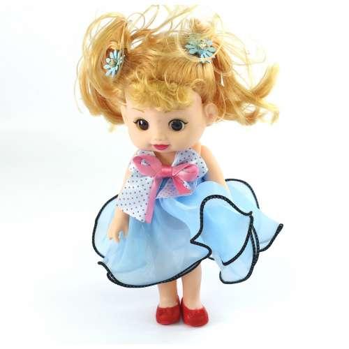 Кукла-брелок в платье музыкальная 20 см