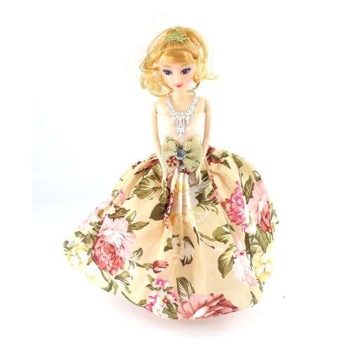 Кукла-брелок в платье маленькая 25 см