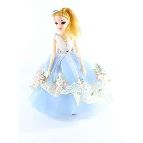 Кукла-брелок в платье средняя 30 см