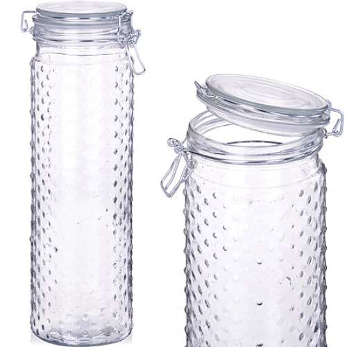 27018 Банка для сыпучих стекло 1800 MB (х12)
