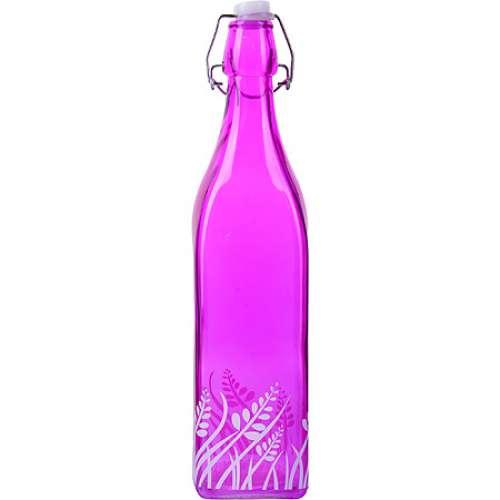 28171-2 Бутылка 1л стекло с крышкой ФИОЛЕТОВЫЙ LR (х12)
