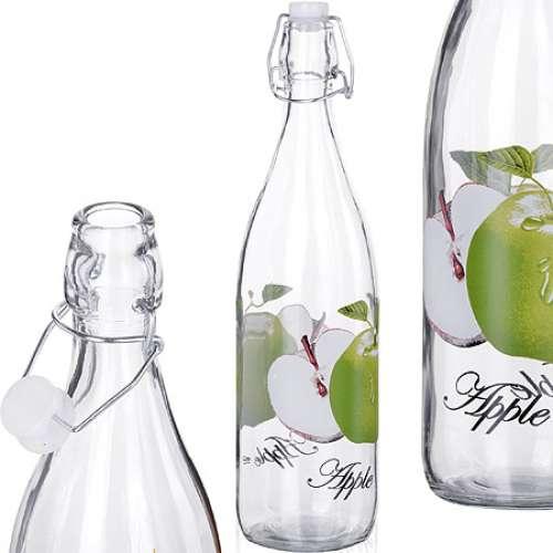 27065 Бутылка 1 литр стекло ЯБЛОКО MB (х12)