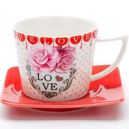 24708 Чайный пара 2пр 230мл I LOVE YOU LR (х24)
