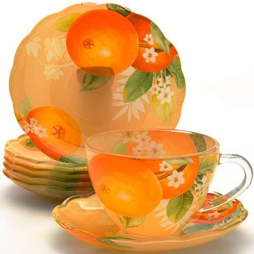 24118 Чайный набор стекло 12пр (200мл) LR (х8)