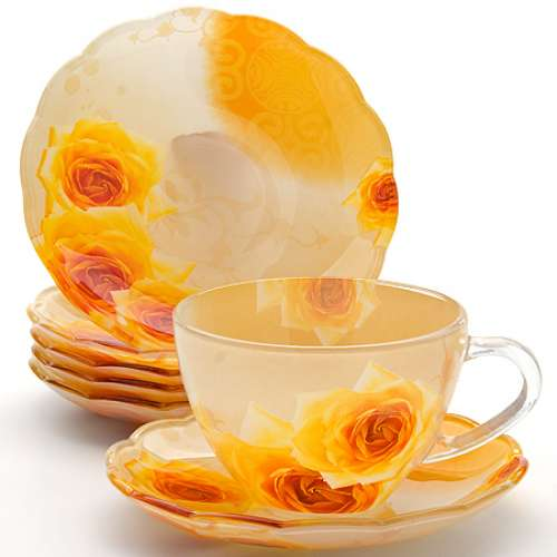 24120 Чайный набор стекло 12пр (200мл) LORAINE