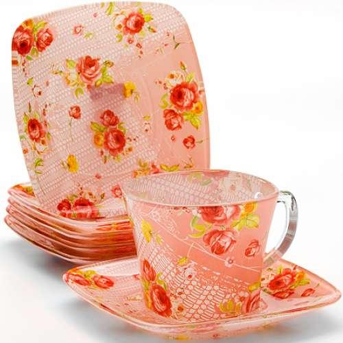24128 Чайный набор стекло 12пр (200мл) LORAINE