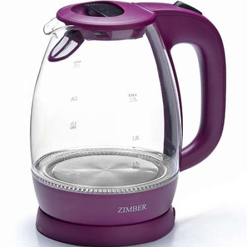 11176 Эл. чайник стекло 1,7л 2200Вт ZM (х6)