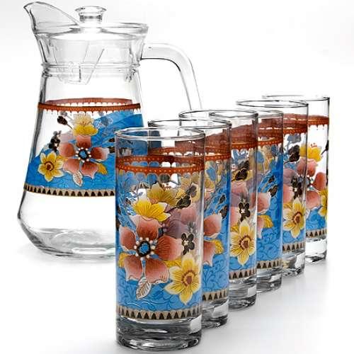 24064 Набор стаканов 6шт+графин 7 пр. LR (х6)