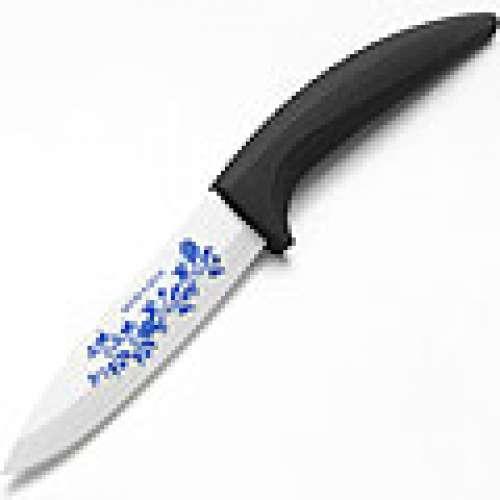 21847-1 Нож 30 см.КЕРАМИКА ЧЕРНАЯ силиконовая ручка МВ(х30)(х40)
