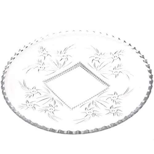 509 Блюдо круглое стекло 28см. (х8)