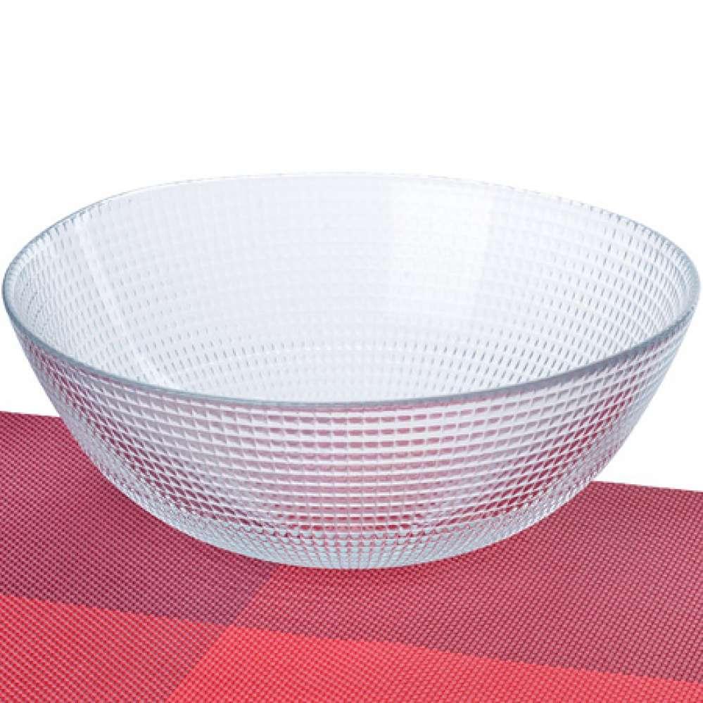 1083 Салатница стеклянная 23 х 8,5 см (х8) оптом