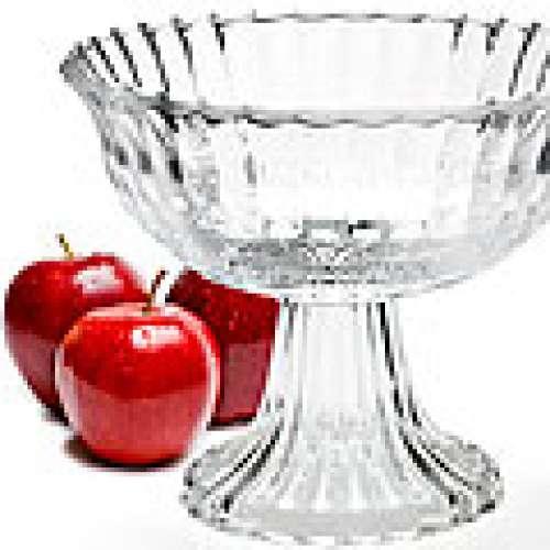 25537 Ваза для фруктов стекло 17,5х14,5см MB (х8)